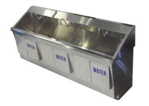 SurgiKleen stainless steel floor mounted medical scrub sink