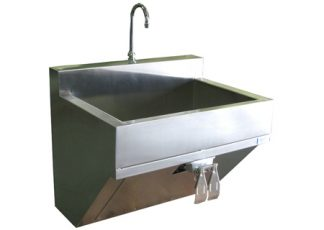 SurgiKleen stainless steel wall mounted surgical scrub sink