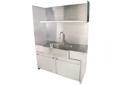SterilKleen® Stainless Steel Custom Casework Cabinet with Sink