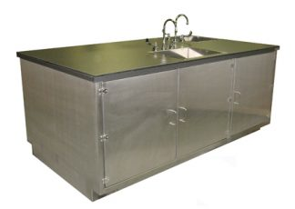 SterilKleen® Stainless Steel Laboratory Casework with Two Sinks