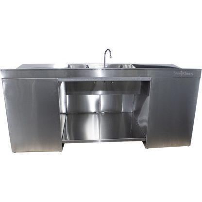 SterilKleen multi-storage casework with sink rear view