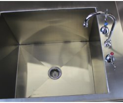 SurgiKleen® Stainless Steel Laboratory Sink Table sink and faucet detail