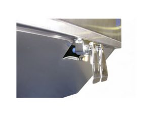 SurgiKleen® Stainless Steel Knee Control System Close-Up View of Knee Pedals
