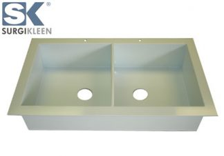 SurgiKleen® Polypropylene Laboratory Sink shown with SurgiKleen logo