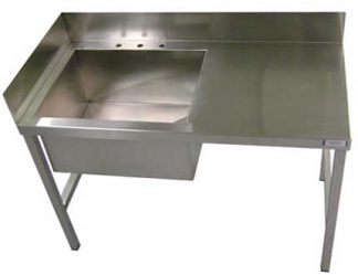 SurgiKleen® Stainless Steel Medical Laboratory Table with one sink and freestanding