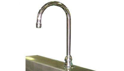 SurgiKleen® Stainless Steel Wall Mount Scrub Sink faucet detail