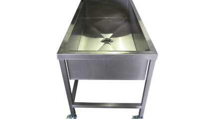 SurgiKleen® Stainless Steel Trough Sink side view image